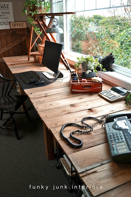pallet wood desk creating my dream office space